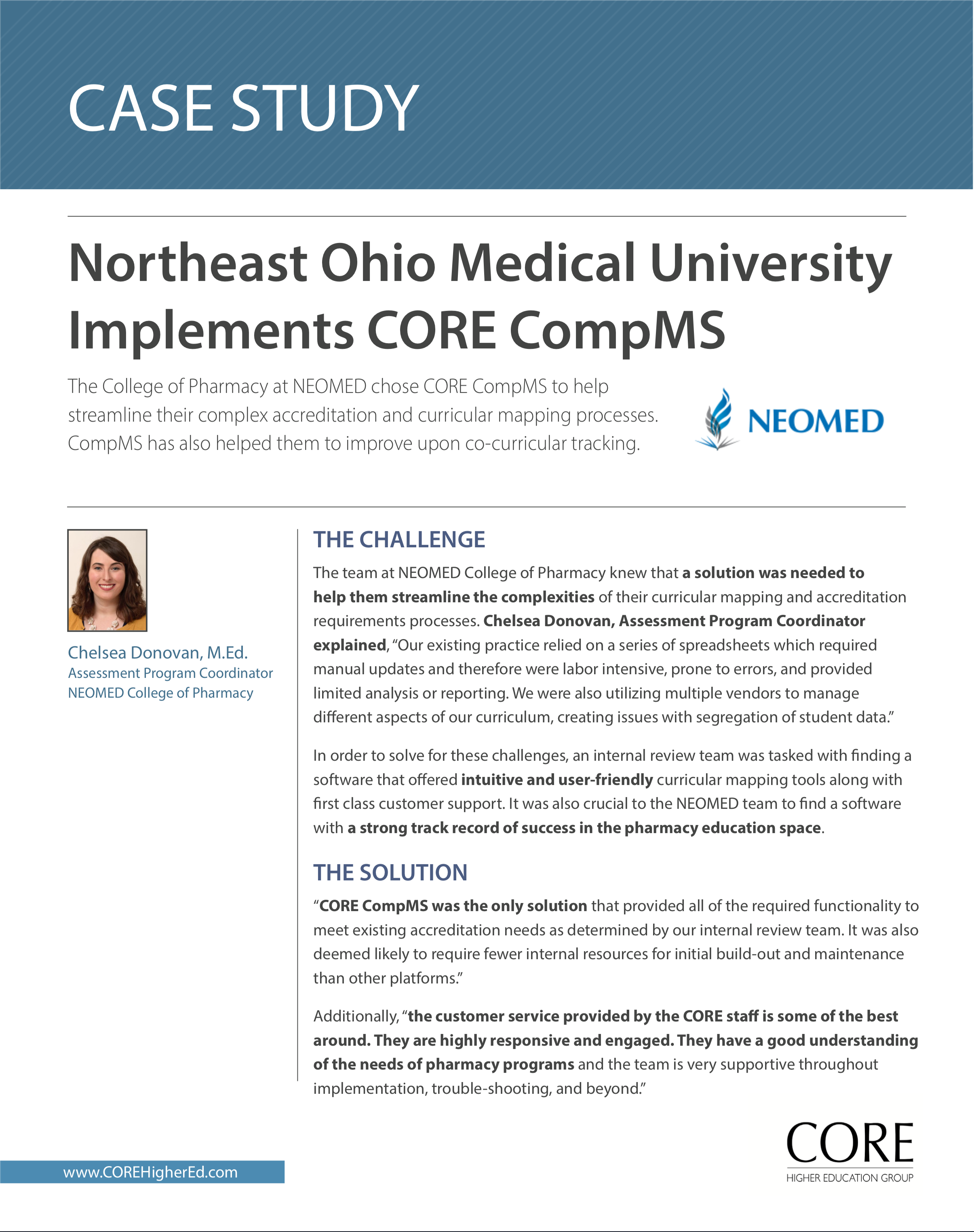 NEOMED Case Study